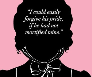 jane austen, pink, and pride and prejudice image