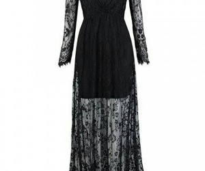black lace dress, new chic, and inexpensive goth basics image