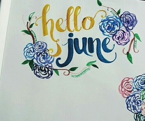 june, art, and floral image
