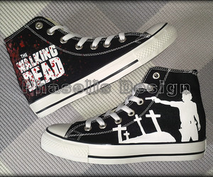 converse, custom, and thewalkingdead image
