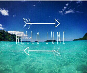 june, blue, and summer image