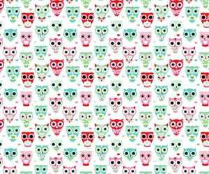 owl, owls, and pattern image