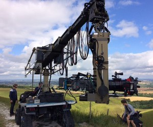 cranes, camera dolly, and hydrascope image