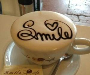 smile, coffee, and food image