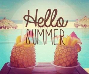summer, beach, and hello image