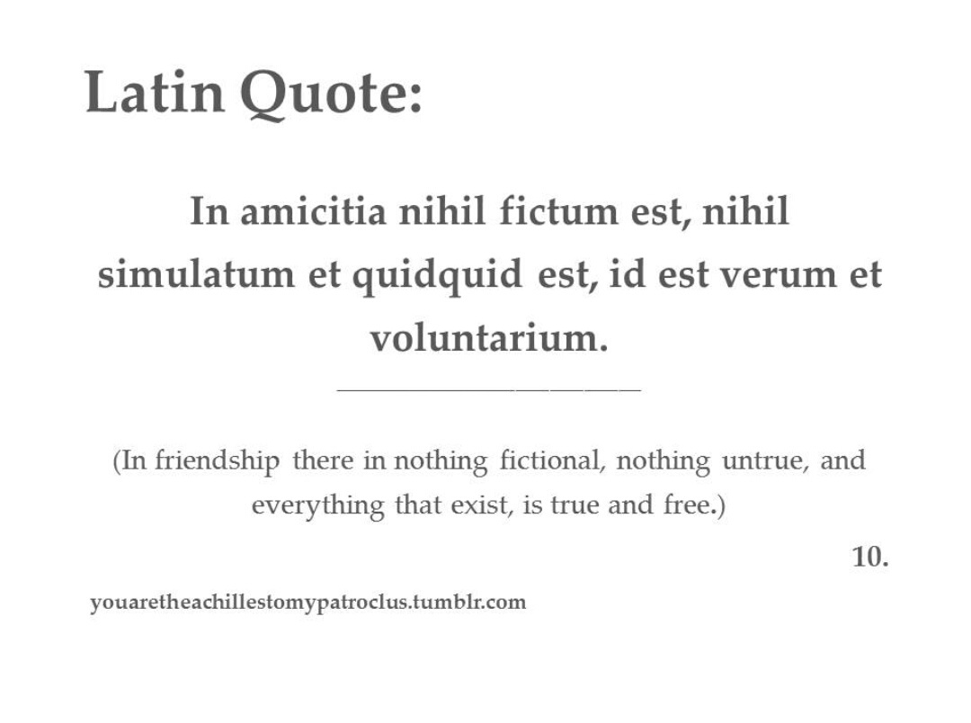 Latin Quotes About Friendship 566 Images About Feelings On We Heart It  See More About Quote