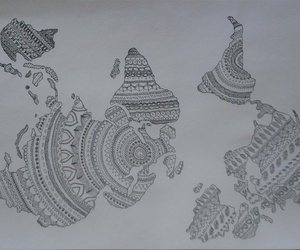 mandala, oriental, and word image
