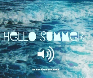 summer, sea, and hello image