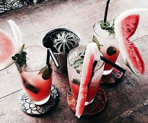 drink, red, and watermelon image
