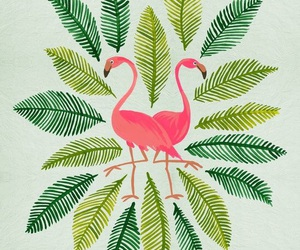 background, flamingo, and wallpaper image