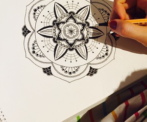 art, henna, and drawing image