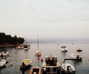 boats, city, and Croatia image