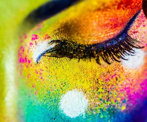 art, colors, and face image