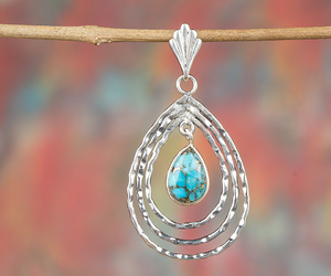 silver jewelry, silver pendant, and gemstone pendant image