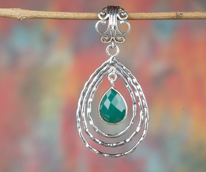 girl pendant, woman pendant, and silver jewelry image