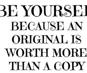 quote and be yourself image