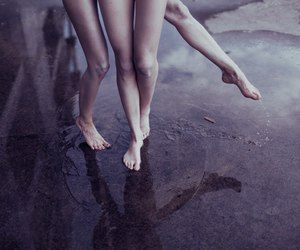 feet, girls, and water image