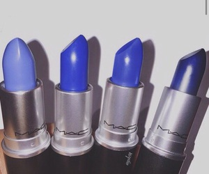 lipstick, mac, and blue image