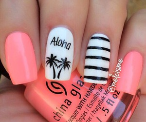 nails, Aloha, and summer image