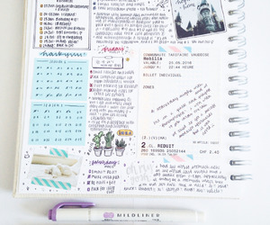 school, journal, and note image