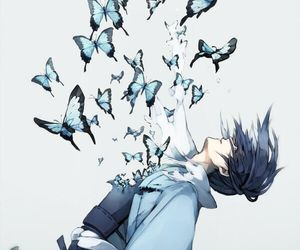 butterfly, anime, and anime boy image