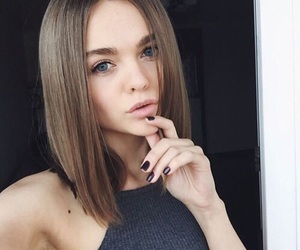hairstyle, girl, and goals image