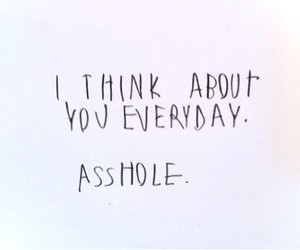 love, asshole, and quote image