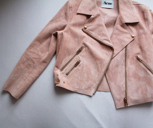 fashion, jacket, and pink image
