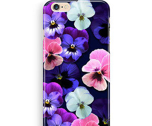 case, flowers, and pansy image