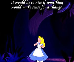 alice in wonderland, quote, and disney image