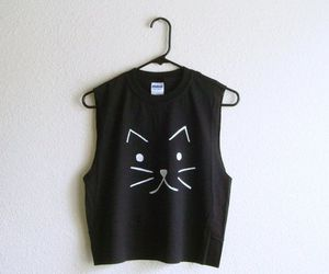 cat, black, and shirt image
