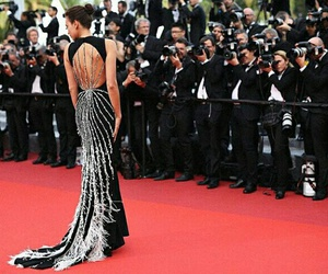 dress, fashion, and red carpet image