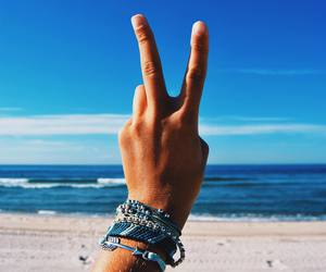 summer, beach, and peace image