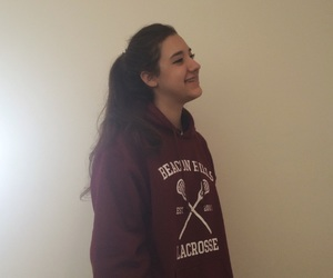 clothes, hoodie, and smile image