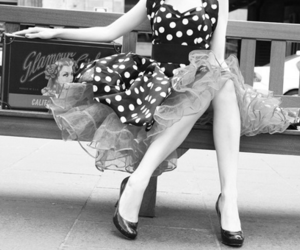 vintage, dress, and Pin Up image