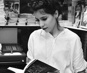 beautiful, black and white, and book image