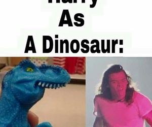 dinosaur and Harry Styles image