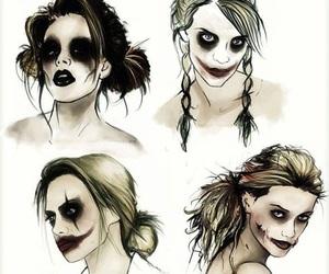 joker, girl, and harley quinn image