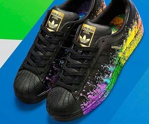 adidas, black, and superstar image