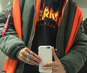 bomber jacket and thrasher image
