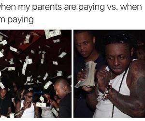 lil wayne, money, and funny image