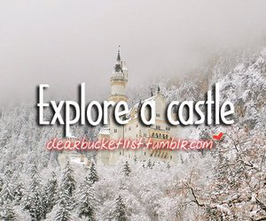 castle and bucket list image