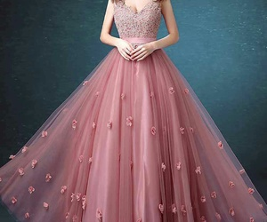 dress, pink, and background image