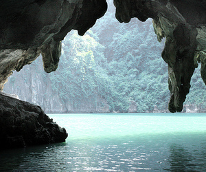 beautiful, water, and cave image
