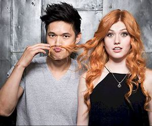 magnus, clary, and shadow hunters image