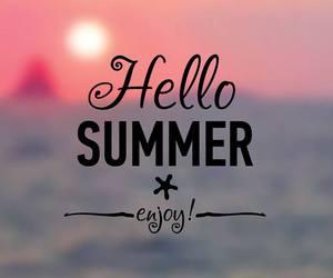 summer, hello, and beach image