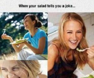 funny, salad, and joke image