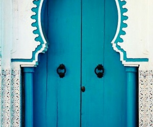 africa, blue doors, and moroccan image