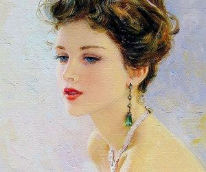 art, portrait, and impressionism image