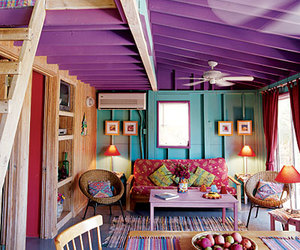 room, purple, and home image